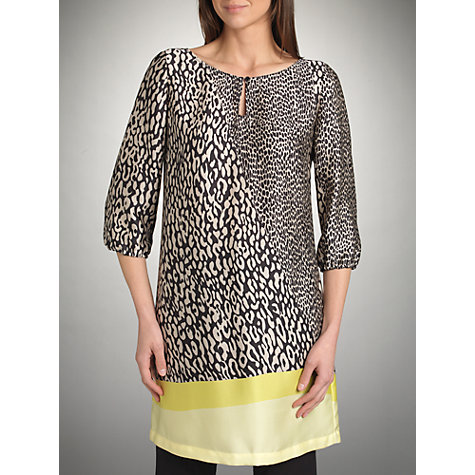 Buy Betty Barclay Animal Print Tunic Dress, Black/Beige Online at johnlewis.com