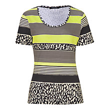 Buy Betty Barclay Print T-Shirt, Black/Beige Online at johnlewis.com