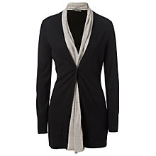Buy Betty Barclay Waterfall Front Cardigan. Black/Beige Online at johnlewis.com
