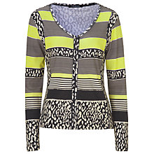 Buy Betty Barclay Stripe Cardigan, Black Online at johnlewis.com