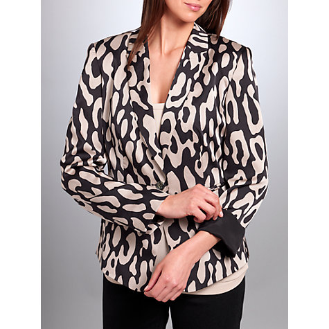 Buy Betty Barclay Animal Print Jacket, Black/Beige Online at johnlewis.com