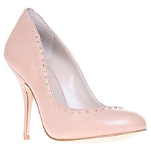Buy KG by Kurt Geiger Leather Gold Pin Stud Court Shoes, Beige Online at johnlewis.com