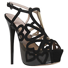 Buy KG by Kurt Geiger Vinyl Heart Stiletto Sandals Online at johnlewis.com