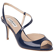 Buy L.K.Bennett Palmita Patent Asymmetric Strappy Sandals Online at johnlewis.com
