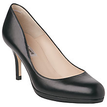 Buy L.K.Bennett Sybila Platform Leather Court Shoes Online at johnlewis.com