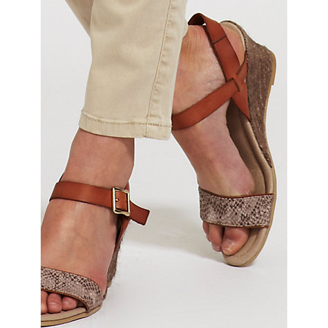 Buy Mint Velvet Wedge Sandals, Tan Online at johnlewis.com