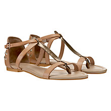 Buy Mint Velvet Studded Sandals, Tan Online at johnlewis.com