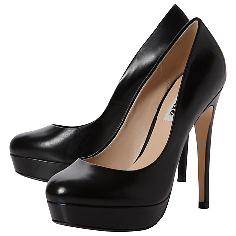Buy Dune Allegro Leather Stiletto Platform Court Shoes Online at johnlewis.com