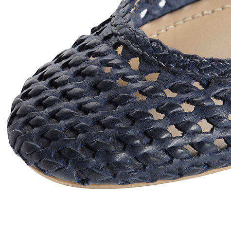 Buy Dune Malawi Woven Leather Ballerina Flats Online at johnlewis.com