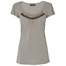 Buy Phase Eight Alicia Embellished Top, Grey Online at johnlewis.com