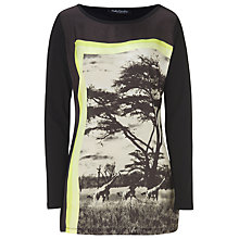 Buy Betty Barclay Safari Print T-Shirt, Black/Beige Online at johnlewis.com
