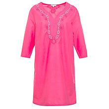 Buy John Lewis Embroidered Kaftan, Pink Online at johnlewis.com