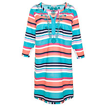Buy John Lewis Embroidered Striped Kaftan, Multi Online at johnlewis.com