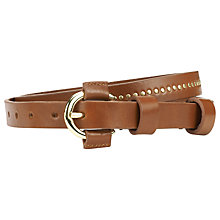 Buy Whistles Richelle Belt, Tan Online at johnlewis.com
