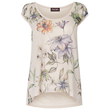 Buy Phase Eight Floral Print Top, Neutral Online at johnlewis.com