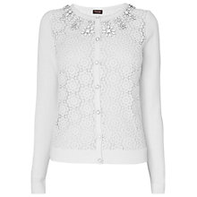 Buy Phase Eight Milly Lace Cardigan, White Online at johnlewis.com