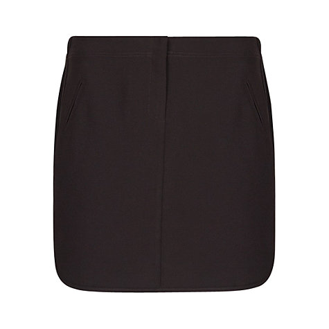 Buy Mango Crepe Miniskirt, Black Online at johnlewis.com
