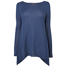 Buy Phase Eight Made in Italy Susan Hanky Jumper, Denim Blue Online at johnlewis.com