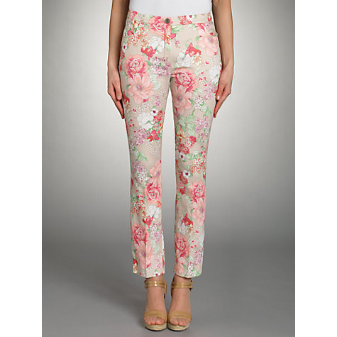 Buy Betty Barclay Floral Print Trousers, Multi Online at johnlewis.com