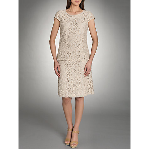Buy Betty Barclay Lace A-Line Skirt, Zabaione Online at johnlewis.com