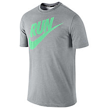 Buy Nike Men's Run Swoosh T-Shirt Online at johnlewis.com