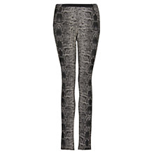 Buy Mango Snake Print Jeggings, Black Online at johnlewis.com