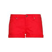 Buy Mango Dyed Denim Shorts, Red Online at johnlewis.com