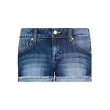 Buy Mango Frayed Denim Shorts, Dark Blue Online at johnlewis.com