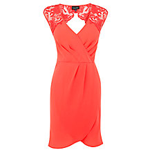 Buy Warehouse Laced Shoulder Wrap Dress Online at johnlewis.com