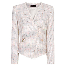 Buy Mango Biker Blazer, White Online at johnlewis.com