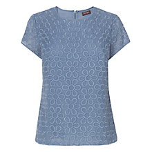 Buy Phase Eight Erin Floral Top, Sky Online at johnlewis.com