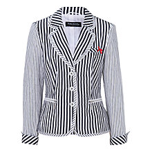 Buy Betty Barclay Striped Linen Jacket, White/Blue Online at johnlewis.com