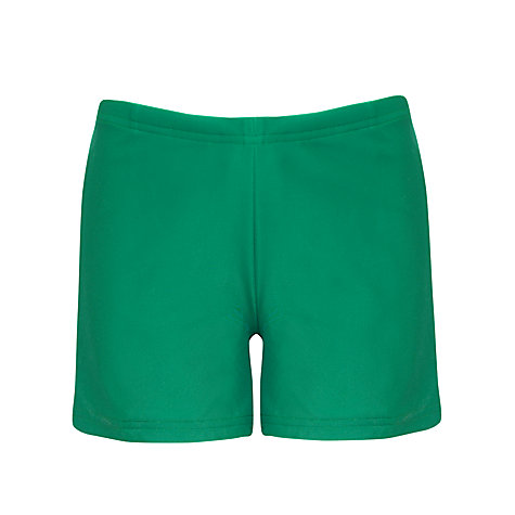 Buy School Boys' Swim Shorts, Bottle Green Online at johnlewis.com