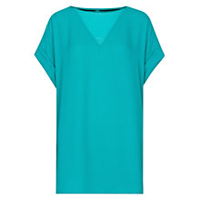 Buy Mango Blouson Top, Emerald Green Online at johnlewis.com