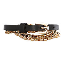 Buy Warehouse Box Chain Waist Belt, Gold Online at johnlewis.com