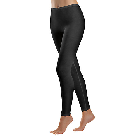Buy Hanro Woolen Silk Mix Leggings, Black Online at johnlewis.com
