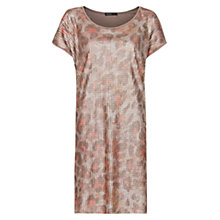 Buy Mango Animal Print Sequin Dress, Metallic Online at johnlewis.com