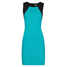 Buy Mango Two-Tone Stretch Jersey Dress, Emerald Green Online at johnlewis.com