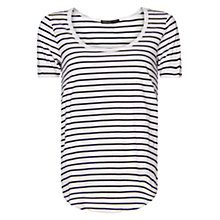 Buy Mango Striped T-Shirt, Navy Online at johnlewis.com