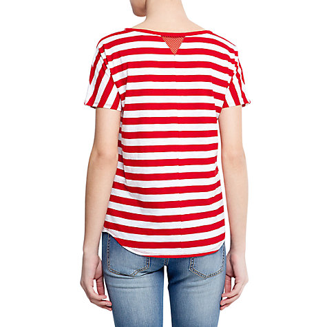 Buy Mango Striped T-Shirt, Red Online at johnlewis.com