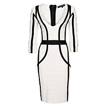 Buy French Connection Daisy Dress, Black/White Online at johnlewis.com