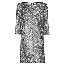 Buy Mango Studs Digital Print Dress, Black Online at johnlewis.com