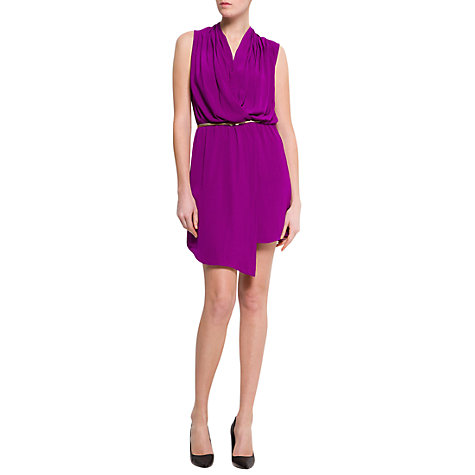 Buy Mango Asymmetric Wrap Dress, Purple Online at johnlewis.com