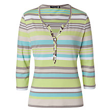Buy Betty Barclay V-Neck Multi Striped T-Shirt Online at johnlewis.com