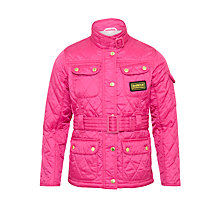 Buy Barbour International Quilted Jacket, Pink Online at johnlewis.com