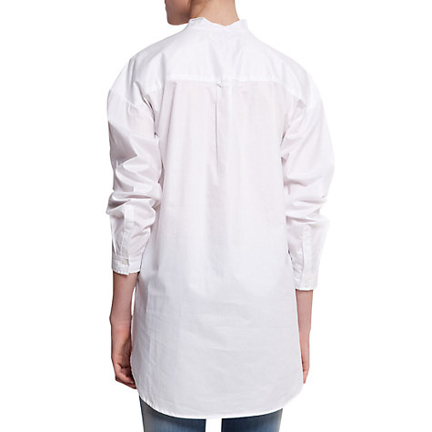 Buy Mango Long Cotton Shirt, White Online at johnlewis.com