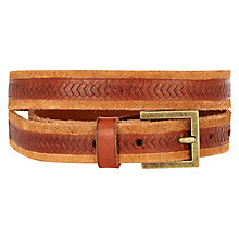 Buy Warehouse Chevron Belt, Tan Online at johnlewis.com