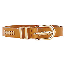 Buy Warehouse Studded Belt, Tan Online at johnlewis.com