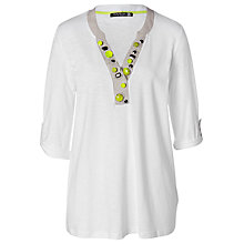 Buy Betty Barclay White Linen Effect Top Online at johnlewis.com
