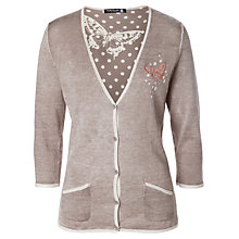 Buy Betty Barclay Butterfly Cardigan, Taupe Online at johnlewis.com